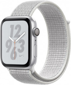 Смарт-часы Apple Watch Series 4 Nike+ 44mm GPS Silver Aluminum Case with Summit White Nike Sport Loop (MU7H2)