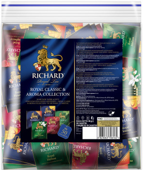 Чай Richard асорті Royal Classic & Aroma Collection 50 пакетиків (4823063706162)