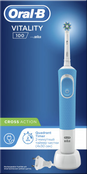 Електрична зубна щітка ORAL-B BRAUN Vitality CrossAction/D100 Blue (4210201262336)