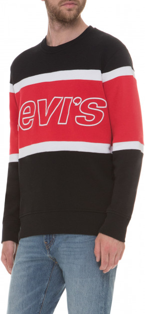 Свитшот Levi's Pieced Crew Sweatshirt Jersey Pieced Sw L (79550-0000)