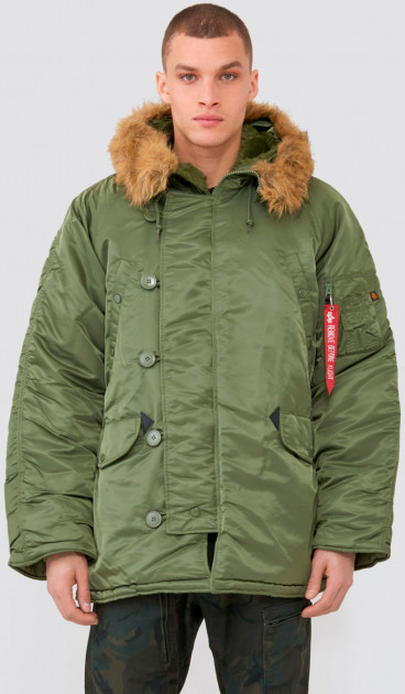 Парка Alpha Industries MJN31000C1 N-3B Parka 5XL Sage (640631439628)
