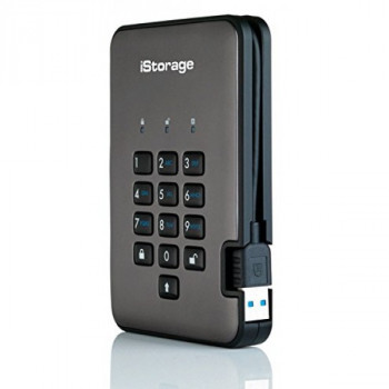 iStorage diskAshur Pro2 256-bit 5TB - Classified - Graphite