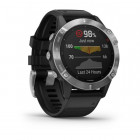 Часы Garmin Fenix 6 Silver with Black Band - изображение 3
