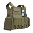 Бронежилет Flyye Molle Style PC Plate Carrier with Pouch Set Khaki (M) (FY-VT-M003-KH) - зображення 1