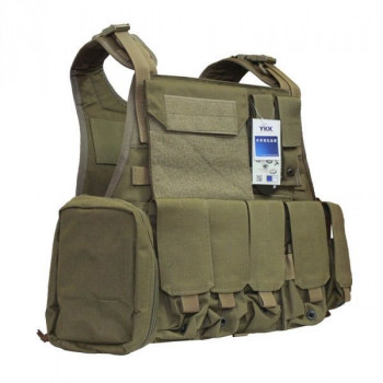 Бронежилет Flyye Molle Style PC Plate Carrier with Pouch Set Khaki (FY-VT-M003-KH)