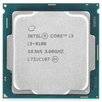 Intel Core i3 8100 3.6 GHz (6MB, Coffee Lake, 65W, S1151) Tray (CM8068403377308)