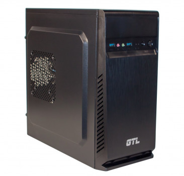 #177219 - Корпус GTL 1607 Black, 500W, USB3.0, 120mm, Micro ATX / Mini ITX, 2 x 3.5 mm, USB3.0 x 2, ODD x 1, HDD x 3, SSD x 1, 0.4 mm, 350x315x165,