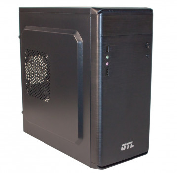 #177222 - Корпус GTL 1609 Black, 500W, 120mm, Micro ATX / Mini ITX, 2 x 3.5 mm, USB2.0 x 2, ODD x 1, HDD x 3, SSD x 1, 0.4 mm, 350x315x165, 3.9 kg