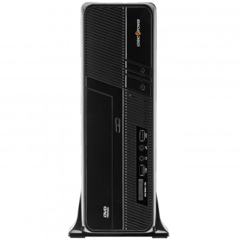 Корпус Logicpower S605 BK 400W Slim, 8см, 2хUSB2.0, Cardreader, Black