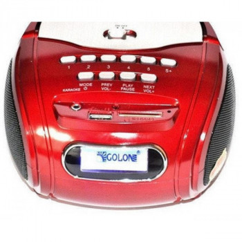 Колонка бумбокс Golon RX 186 red MP3 USB радио