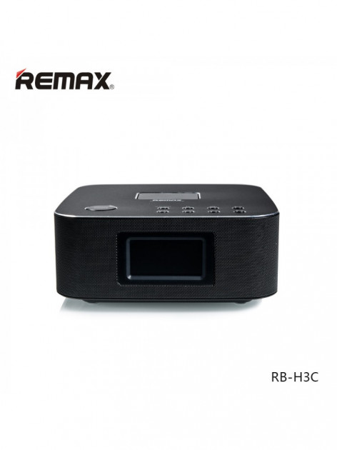Bluetooth Колонка Remax RB-H3 3 in 1 BT3.0 Speaker with Alarm Clock Bass+ Black (VN00301)