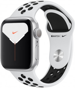 Смарт-часы Apple Watch Series 5 Nike+ GPS 40mm Silver Aluminium Case with Pure Platinum/Black Sport Band (MX3R2)