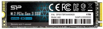 Silicon Power P34A60 1TB NVMe M.2 2280 PCIe 3.0 x4 3D NAND TLC (SP001TBP34A60M28)