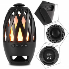 Беспроводная портативная Bluetooth колонка-камин Flame Atmosphere Wireless Speaker BTS-596 FMF Black.