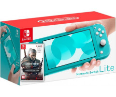 Nintendo Switch Lite Turquoise + Игра The Witcher 3: Wild Hunt Complete Edition (русская версия)