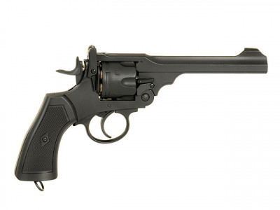 Револьвер Well Webley Scott MK IV Metal G293A CO2 (Страйкбол 6мм)