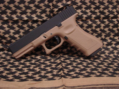 Пістолет KJW Glock 17 Tan Metal Slide CO2 (Страйкбол 6мм)