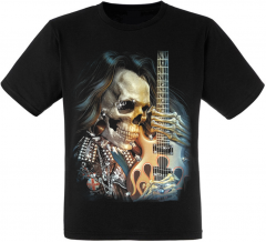 Футболка Fat Cat Skull Hair Guitar L 13124