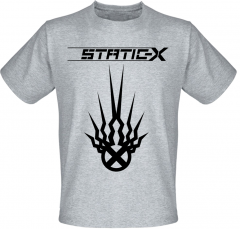 Футболка Fat Cat Static-X - Black Logo (меланж) XL 32178
