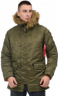 Парка Alpha Industries Slim Fit N-3B Parka XL Vintage Olive