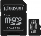 Kingston microSDHC 16GB Canvas Select Plus Class 10 UHS-I U1 V10 A1 + SD-адаптер (SDCS2/16GB)