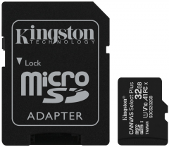 Kingston microSDHC 32GB Canvas Select Plus Class 10 UHS-I U1 V10 A1 + SD-адаптер (SDCS2/32GB)