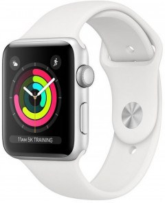Apple Watch Series 3 GPS 42mm Silver Aluminium Case with White Sport Band - Б/у