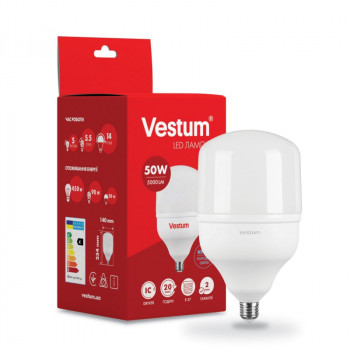 Лампа LED Vestum T140 50W 6500K 220V E27 (1-VS-1604)