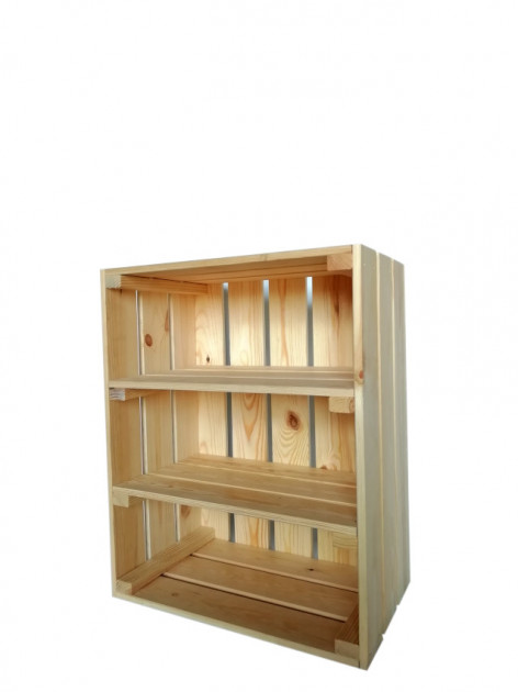 Ящик деревянный для хранения с 2 полками ECO WoodBox (ДхШхВ:50*40*24см) - изображение 1