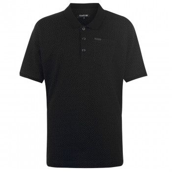 Поло Firetrap Blackseal XL Pinpoint Polo Shirt 4XL Black (3677125)