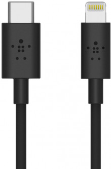 Кабель Belkin PD USB Type-C - Lightning 1.2 м Black (F8J239BT04-BLK)