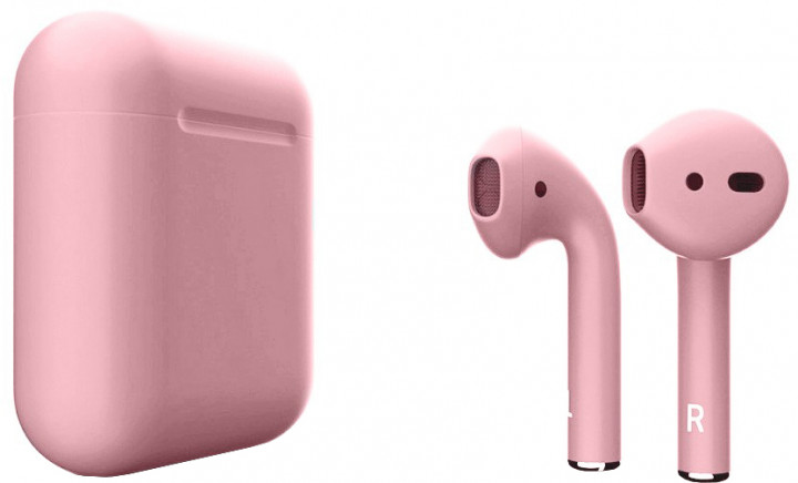Наушники Apple AirPods with Wireless Charging Case Pink Sand (MRXJ2) (2-е поколение)