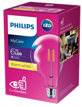 Світлодіодна лампа Philips Filament LED Classic 6-60W G120 E27 830 CL NDAPR (929001975108)