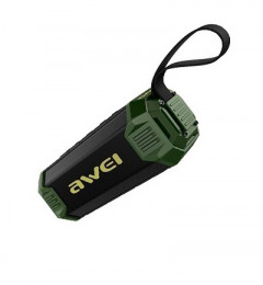 Акустика AWEI Y280 Bluetooth Speaker-Power Bank Black-Green