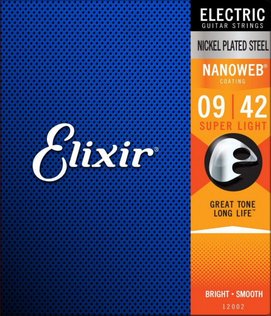 D/'Addario EXP120 Coated Nickel Plated Electric Guitar Strings 09-42