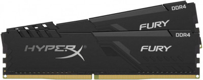 Оперативна пам'ять HyperX DDR4-2666 65536MB PC4-21328 (Kit of 2x32768) Fury Black (HX426C16FB3K2/64)