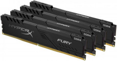 Оперативная память HyperX DDR4-3000 131072MB PC4-24000 (Kit of 4x32768) Fury Black (HX430C16FB3K4/128)