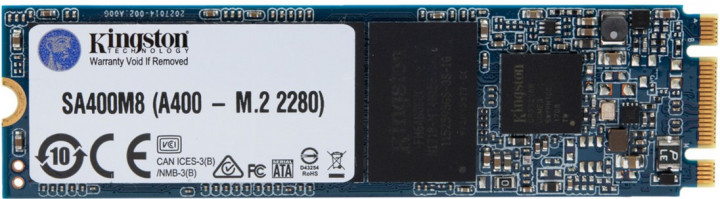 Kingston SSD SSDNow A400 480GB M.2 2280 SATAIII 3D V-NAND (SA400M8/480G) - зображення 1