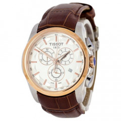 Tissot T-Classic Couturier Chronograph Brown-Gold-White
