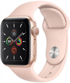 Смарт-часы Apple Watch Series 5 GPS 40mm Gold Aluminium Case with Pink Sand Sport Band (MWV72UL/A)