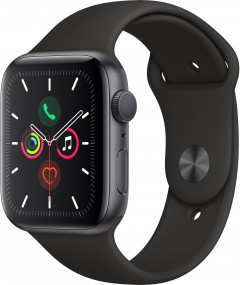 Смарт-часы Apple Watch Series 5 GPS 44mm Space Gray Aluminium Case with Black Sport Band (MWVF2UL/A)