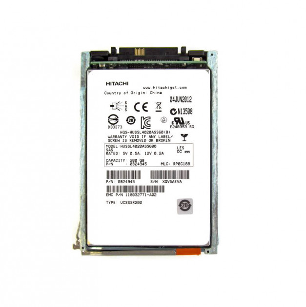 SSD EMC 200GB 2.5 in SAS SSD for VNX (5050599) Refurbished - зображення 1