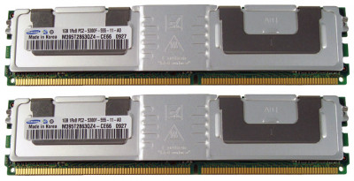 Оперативная память Fujitsu Siemens FSC DDR2-RAM 2GB-Kit 2x1GB PC2-5300F 1R (M395T2863QZ4-CE66) Refurbished