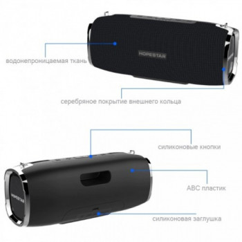 Мощная портативная bluetooth колонка Sound System Hopestar A6 Pro 35W S75 Black Extra Bass Original (1838A)
