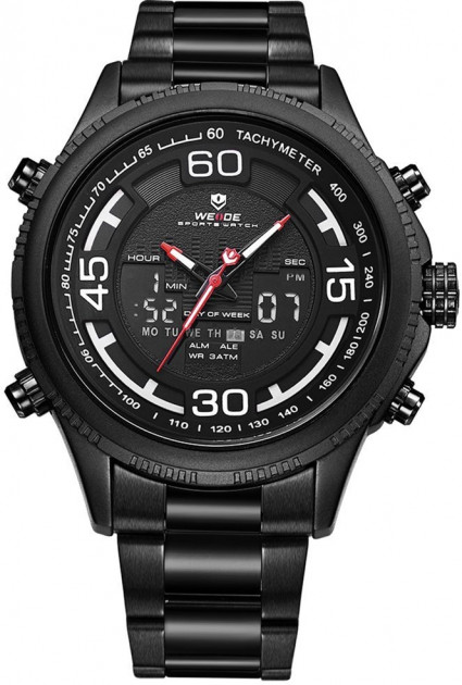 Мужские часы Weide All Black WH6306B-1C SS (WH6306B-1C) - изображение 1