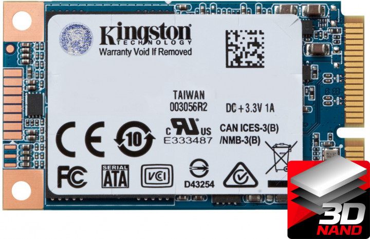 Kingston SSD UV500 480GB mSATA SATAIII 3D NAND TLC (SUV500MS/480G) - зображення 1