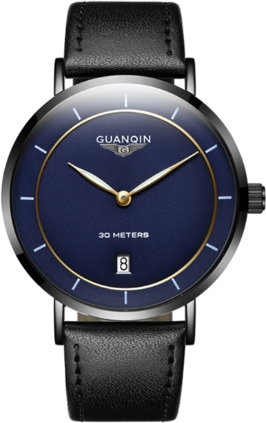 Мужские часы Guanqin Black-Blue-Black GS19070 CL (GS19070BBlB) - изображение 1