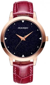 Жіночий годинник Guanqin Gold-Blue-Bordo GS19051 CL (GS19051GBlBor)