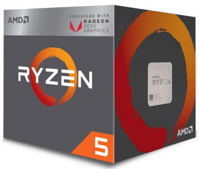 Процесор CPU AMD Core 4 Ryzen 5 2400G 3,6GHz-3,9GHz(Turbo)/6MB/65W with Wraith Stealth cooler (YD2400C5FBBOX) sAM4 BOX