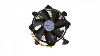 Вентилятор ATcool Average Wind (Intel 775/1150/1155/1156/92mm/1600rpm/3pin/Alum) (13406)
